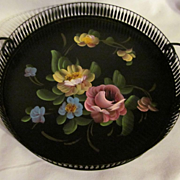 1950's Tole Tray, Hand Painted, Fine Arts Studio