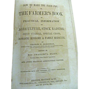 1869 How to Make the Farm Pay or The Farmer's Book by Charles W ...