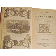 1854 Youth's Manual of Geography Combined with History and Astronomy by James Monteith, A ...