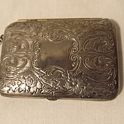 Silver Plate Compact, Rouge,Powder,Mirror