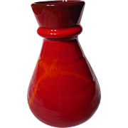 Blue Mountain Pottery Red Flame Glaze Trumpet Vase