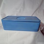 Vintage Jeannette Delphite Blue Large Refrigerator Dish And Lid