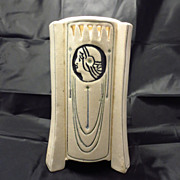 Weller Pottery Art Deco Ethel Creamware Buttressed Vase