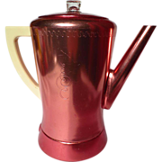 Vintage West Bend Flavo-Matic Copper Red Aluminum Percolator
