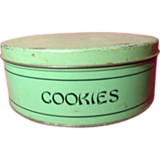 Vintage 1930's Jade Green GSW Cookie Tin