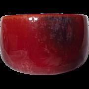 Vintage 1930's Medalta Mottled Red Art Pottery Small Vase