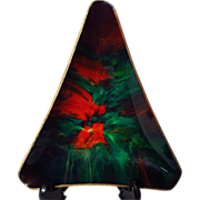 Seetusee Potpourri Triangular Art Glass Dish