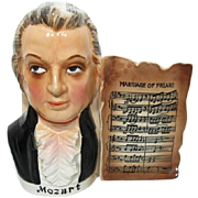 Famous Musical Composer MOZART Head Vase