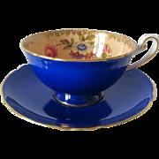 Shelley Cobalt Blue Tea Cup and Saucer