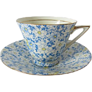 Vintage Royal Doulton Daisy Chintz Patterned Tea Cup and Saucer