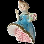 Vintage Lefton Bloomer Girl Figurine