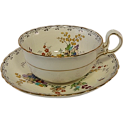 Gorgeous Handpainted Floral TUSCAN Tea Cup and Saucer