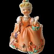 Vintage Rubens Young Lady Figurine Planter