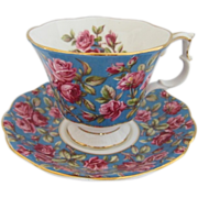 "Royal Albert ""HAREWOOD"" Rose Chintz Tea Cup and Saucer"