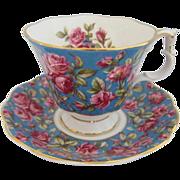 """Royal Albert """"HAREWOOD"""" Rose Chintz Tea Cup and Saucer"""