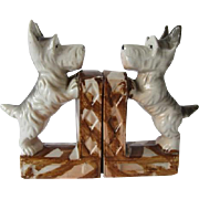 Vintage Scottie Dog Porcelain Bookends