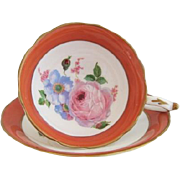 Early PARAGON Large Pink Rose Tea Cup and Saucer