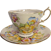 Vintage ROYAL ALBERT Hand Painted Tea Cup and Saucer