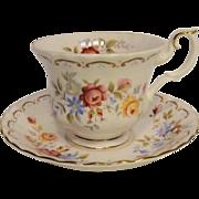 Royal Albert JUBILEE ROSE Pattern Tea Cup and Saucer