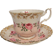 Royal Albert Brides Maid Pattern Tea Cup and Saucer