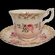 Royal Albert Brides Maid Pattern Tea Cup and Saucer