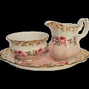 Royal Albert Bridesmaid Creamer, Sugar Bowl and Under Tray