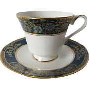 "Royal Doulton ""Carlyle"" (H.5018) Pattern Tea Cup and Saucer"