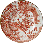 "Royal Crown Derby RED AVES 10.5"" Dinner Plate"