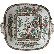 Early Coalport Cake Plate - Indian Tree Pattern