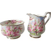 Early Royal Albert Blossom Time Cream & Sugar