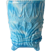 Victorian Slag Glass Spooner by George Davidson