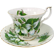Royal Albert TRILLIUM pattern Tea Cup & Saucer