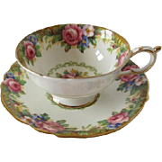 Vintage PARAGON Tapestry Rose Pattern Cup and Saucer
