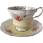 "Royal Albert Rose Marie Series ""MOONGLOW"" Tea Cup Set"