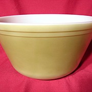 Vintage 1960's Federal Glass Olive Green Large Mixing Bowl