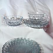 Assortment Fire King Sapphire Blue Bubble Glass