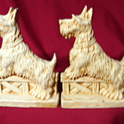 Vintage Durwood Scottie Dog Bookends