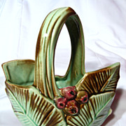 SALE PENDING Vintage McCoy Leaf And Berry Basket