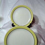 Pair Grindley China Canadian National Railroad Salad Plates
