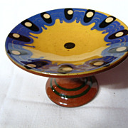 Vintage Troyan Pottery Miniature Footed Compote