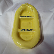 Early McMaster Pottery Goodyear Life Raft Advertising Soap Dish