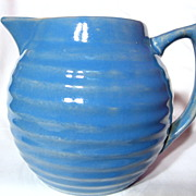 REDUCED Bauer Delph Blue Ringware 2 Quart Pitcher