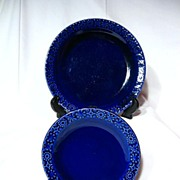 Kilrush Pottery Celtic Plates ~ Cobalt Blue