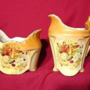REDUCED Vintage 1930's Czecho-Slovakian Porcelain Creamer & Sugar