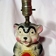 REDUCED American Bisque Circus Bear Child's Lamp