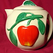 Vintage American Bisque Pippin Teapot