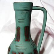 Vintage 1960's Carstens Tonnieshof Red Jewel Vase