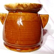 Brush McCoy Caramel Tab Handled Vase