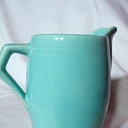 Turquoise Medicine Hat Pottery Small Syrup Jug