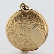 Vintage 14 Karat Yellow Gold Locket Flower Pendant Estate Fine Jewelry Heirloom